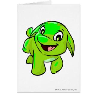 Poogle Glowing Greeting Card