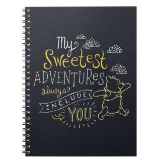 Pooh   My Sweetest Adventures Notebooks