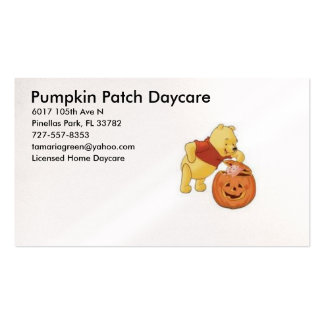 poohpumpkin, Pumpkin Patch Daycare, 6017 105th ... Pack Of Standard Business Cards