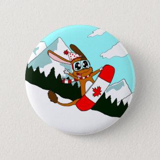 Pookie Snowboarding Pin