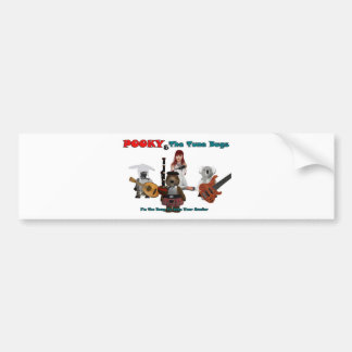 pooky and the tune bugs-1-1 bumper sticker