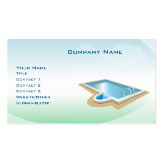 Pool and Spa Pack Of Standard Business Cards