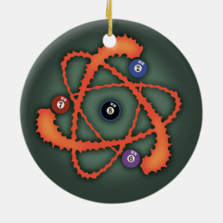 Pool Atom II Ceramic Ornament