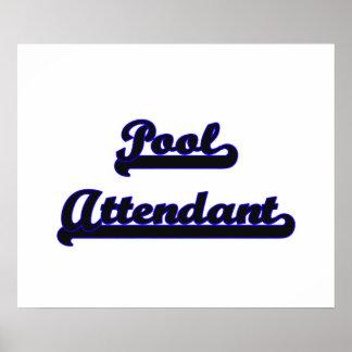 Pool Attendant Classic Job Design Poster