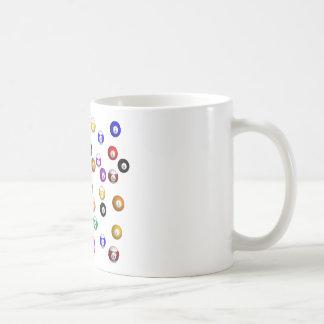Pool Balls Basic White Mug
