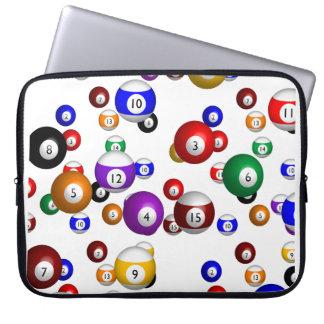 Pool Balls Laptop Sleeves