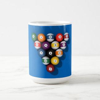 Pool Balls on Blue Felt: Basic White Mug