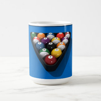 Pool Balls on Blue Felt: Basic White Mug