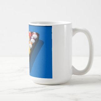 Pool Balls on Blue Felt: Coffee Mugs