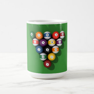 Pool Balls on Green Felt: Basic White Mug