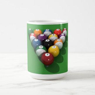 Pool Balls on Green Felt: Coffee Mug