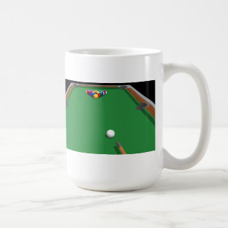 Pool Balls on Table: 3D Model: Basic White Mug