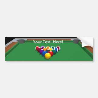 Pool Balls on Table: 3D Model: Bumper Sticker