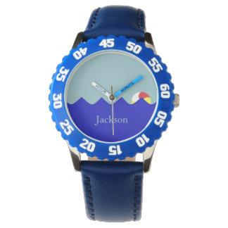 Pool Beach Ball (Customizable) Watches