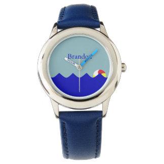Pool Beach Ball (Customizable) Wrist Watches