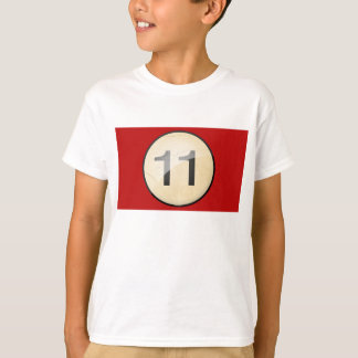 Pool Billiards Ball Number 11. Front & back print. T-Shirt