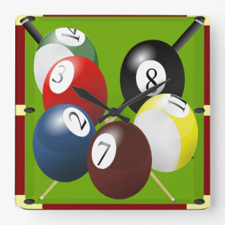 Pool / Billiards Clock