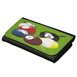 Pool / Billiards Large Leatherette Wallet