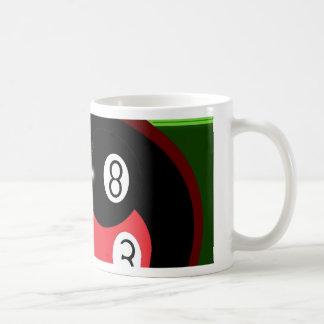 POOL BLACK AND RED BALL COFFEE MUG