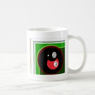 POOL BLACK AND RED BALL MUG