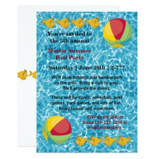 Pool Fish Ball - Pool Party Invitation