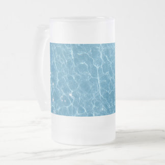 Pool Frosted 16 oz Frosted Glass Mug