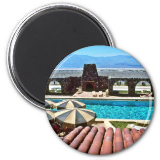 Pool, Furnace Creek Inn 6 Cm Round Magnet