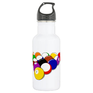 Pool Hall Balls Rack Em Sports Leisure Billiards 532 Ml Water Bottle