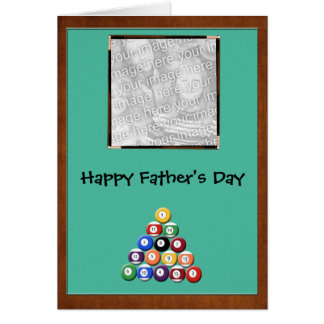 Pool Hall Father's Day Card