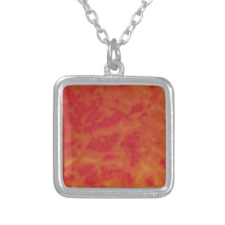 pool of lava silver plated necklace