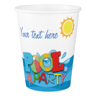Pool Party Birthday Paper Cup