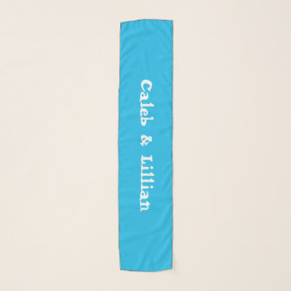 Pool Party Blue Couples Custom Scarf