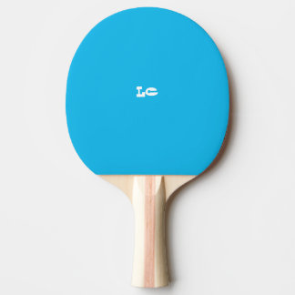 Pool Party Blue Monogram Ping Pong Paddle