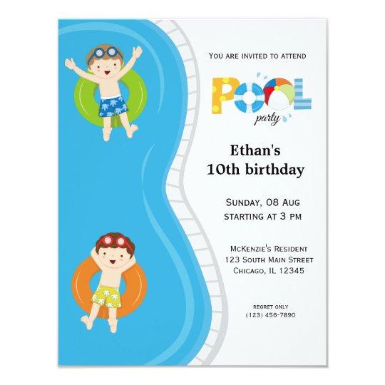 Pool Party (boy) Card