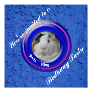 Pool party guinea pig card