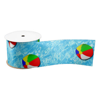 pool party ideas satin ribbon