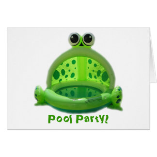 Pool Party! Invitation Greeting Card