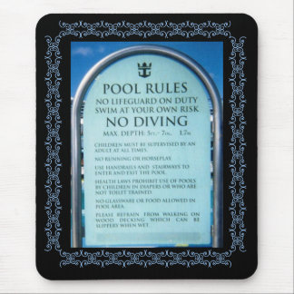 Pool Rules Mousepad
