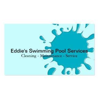 Pool service business cards 197 pool service busines card for Pool company business cards
