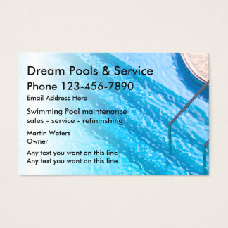 Pool business cards zazzlecomau for Pool service business cards