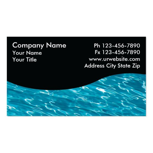 Pool Service Business Card Designs