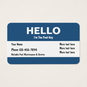 Pool service business cards business card printing zazzle pool service clever design business card colourmoves Choice Image