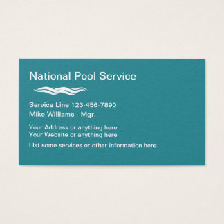 Pool Service Modern Design Business Card