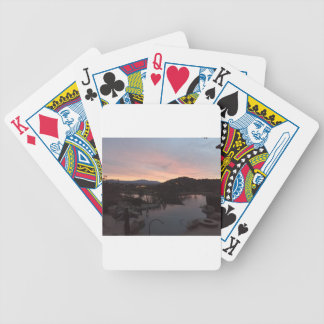Pool Side Sunrise Bicycle Playing Cards