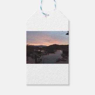 Pool Side Sunrise Gift Tags