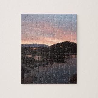 Pool Side Sunrise Jigsaw Puzzle
