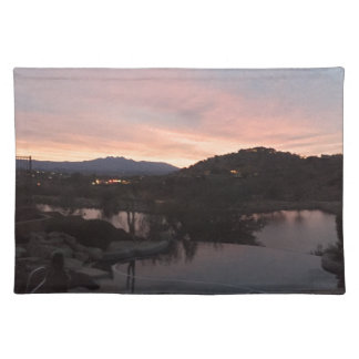 Pool Side Sunrise Placemat