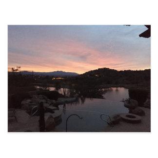 Pool Side Sunrise Postcard