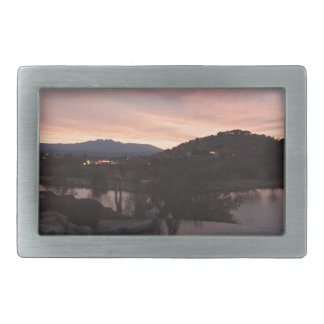 Pool Side Sunrise Rectangular Belt Buckles