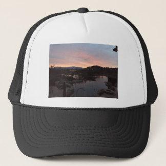 Pool Side Sunrise Trucker Hat